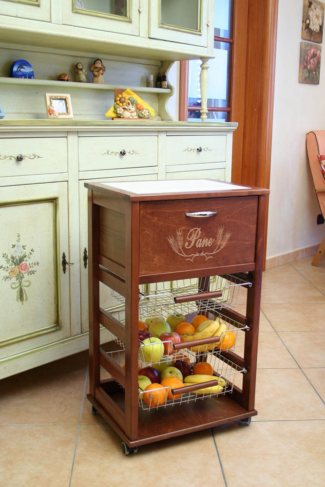 Awesome Carrelli Cucina Legno Gallery - bery.us - bery.us
